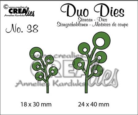 Crealies Duo-Dies - Feuillages