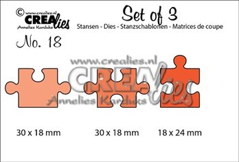 Crealies Set of 3 -Puzzle