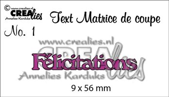 Crealies Text - Félicitations
