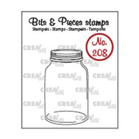 Crealies clear stamp - Mason Jar