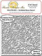 Stencil -Scribbled Roses Stencil