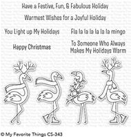 Clear Stamp - Festive Flamigos