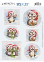 Papier Scenery - Yvonne creations - Aquarella-Christmas Pinguins