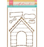 Craft Stencil - Dog house