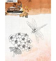 Clear stamp - Just Lou - Butterfly - libellule