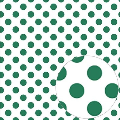 Printed Acetate -Green Dots