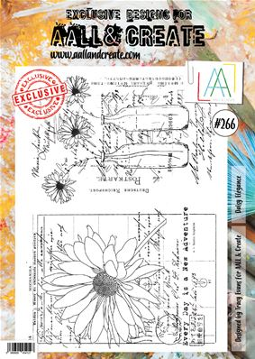 Clear stamps- A4 - #266 - Daisy Elegance