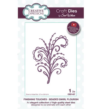 Craft Dies - Beaded Swirl Flourish