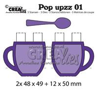 Crealies Pop upzz - tasses
