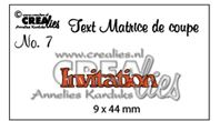 Crealies - Text - Invitation