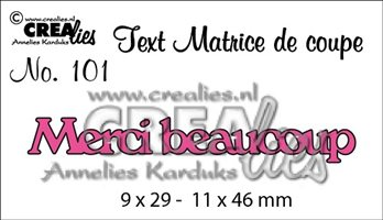 Crealies Text - Merci beaucoup
