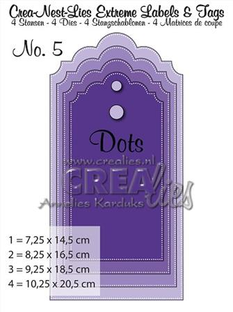 Crea-Nest-Lies Extreme Labels & Tags - Pierced