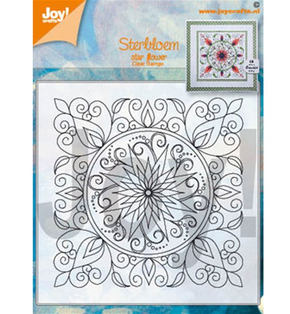 Clear stamp - Star flower