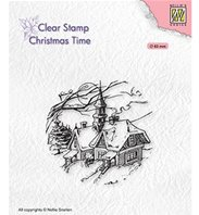 Clear stamp - Snowy Christmas Scene