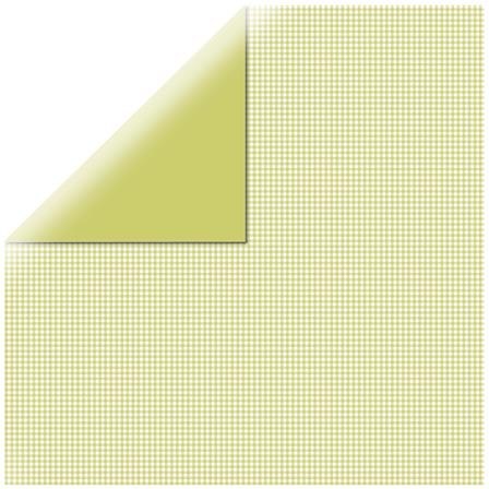 Papier vichy - Square Light green
