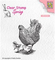 Clear stamp - Spring - Mother with chicks
