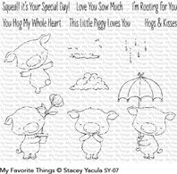 Clear Stamp - Piggy Pebbles