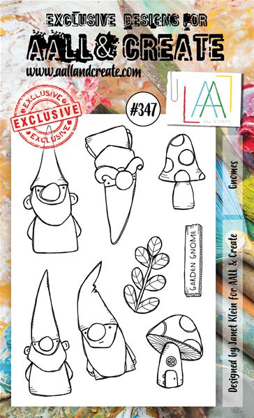 Clear Stamps - A6 - #347 - Gnomes