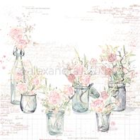 Papier - Roses in glasses