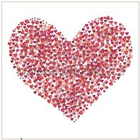 Papier - Hearts love - Red heart