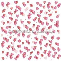 Papier - Hearts love - many middle hearts