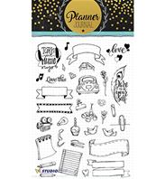 Clear stamps - Planner Journal