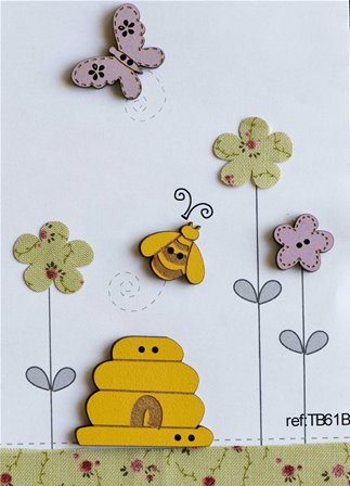 Boutons - Abeilles