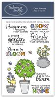 Clear Stamp - Garden Sentiments