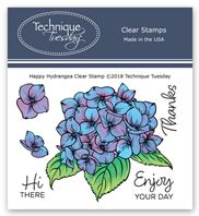 Clear Stamp - Happy Hydrangea