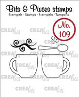 Crealies Clear Stamp - tasses