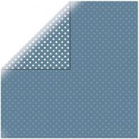 Papier - Dots&stripes - Medium blue