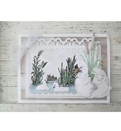 Clear Stamp Border - Cattails