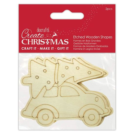 Create Christmas - Wooden shapes
