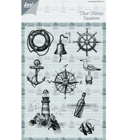 Clear stamp -At the Sea