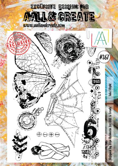 Clear Stamps - A4 - #367 - Take flight