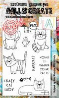 Clear stamp-A6-#408-Felines