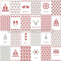 Papier - Card-bow Xmas-pattern