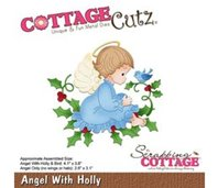 Cottage Cutz - Angel with Holly