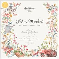 Bloc de papiers - 12 x 12 - Farm Meadow