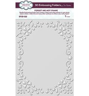 3D Embossing Folder - Forget Me Not Frame