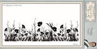 Cling Stamp - Poppy Field