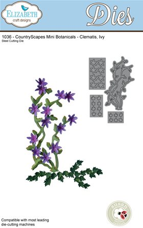Elizabeht Craft - CountryScapes Mini Botanicals - Clematis, Ivy
