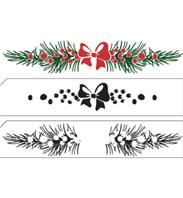 Layered clear stamp - Christmas Border