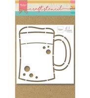 Craft Stencil - Beer mug by Marleen