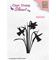 Clear stamp - Silhouet - Daffodil
