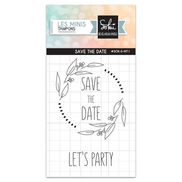 Mini tampon clear - So'Special - Save the date