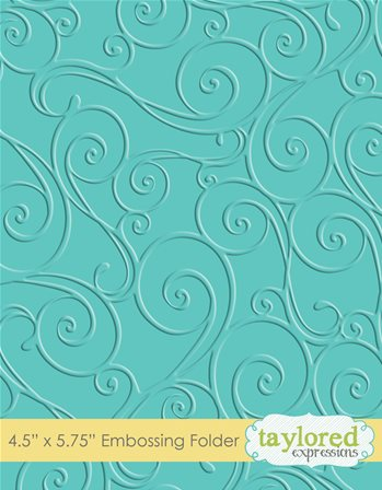 Embossing Folder - Twirls and Swirls