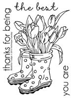 Clear Stamp - Bootiful Tulips