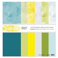 Papiers unis & faux unis - Yellow