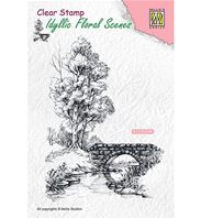 Clear stamp - Scene with stream and bridge